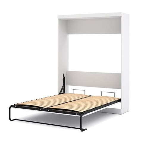 bestar wall bed bestar nebula queen wall bed in white 25184 17