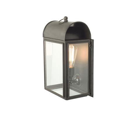 light in the box limited 7250 domed box wall light weathered brass clear glass
