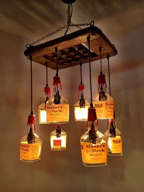 Whiskey Bottle Chandelier Whiskey Bottle Chandelier Makers Whiskey Driftwood 8 Bottle Chandelier By Pmglassart Whiskey
