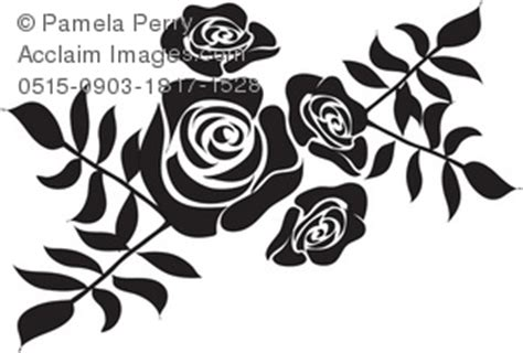 floral silhouette clipart amp stock photography acclaim images