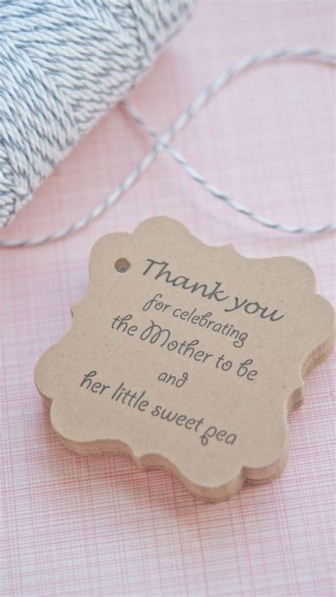 Thank You Baby Shower Favor Tags by Baby Shower Favor Tags Www Somethingwithlove Etsy Www