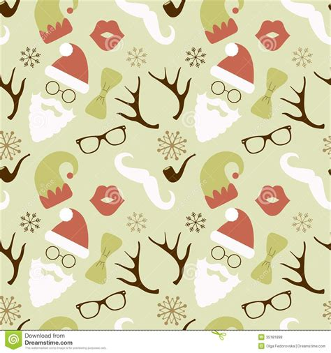retro christmas pattern vector free christmas hipster retro seamless pattern stock vector
