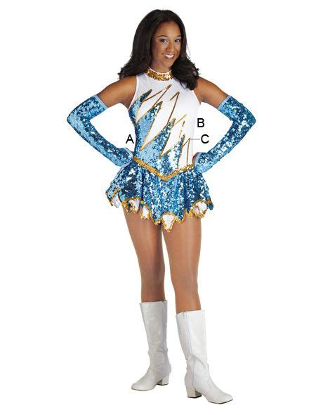 Dress Guras majorette costume spiked dress drum and lyre uniforms team uniforms cheer