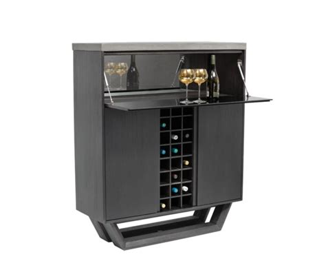 Contemporary Bar Cabinet Langley Wine Cabinet Contemporary Wine And Bar Cabinets By Sunpan Modern Home