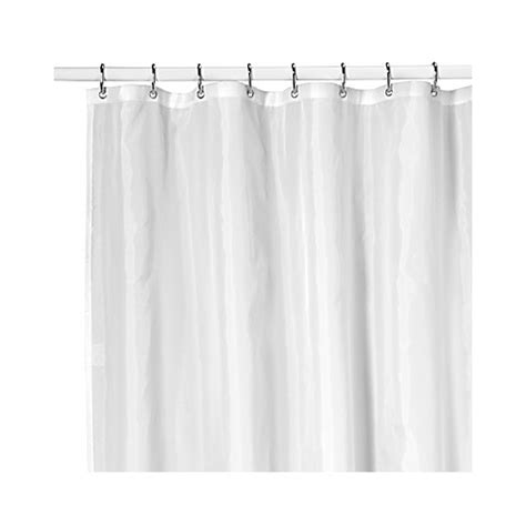 nylon shower curtain ultimate white nylon shower curtain liner bed bath beyond