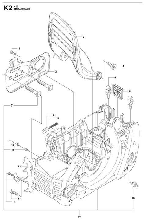 husqvarna 455 rancher parts diagram husqvarna 455 rancher chainsaw crankcase spare parts diagram