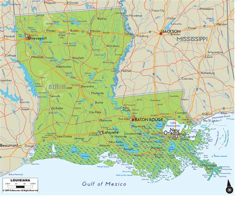 louisiana map toursmapscom