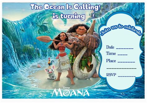 Moana Birthday Invitations ? Birthday Printable