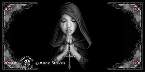 Animal Wall Stickers For Nursery anne stokes gothic prayer gpraswh001