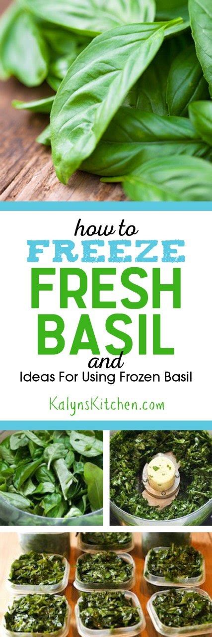 how to freeze fresh basil and ideas for using frozen basil kalyn s kitchen