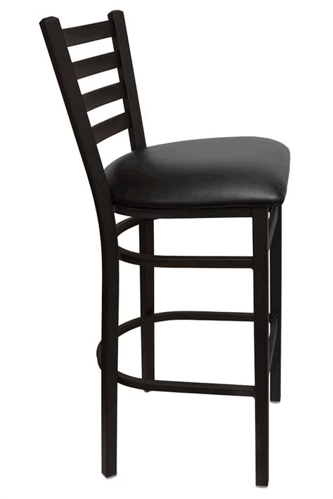 Ladder Back Bar Stools With Seats by Gladiator Ladder Back Metal Bar Stool With Mahogany Wood