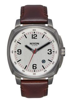 Nixon Charger Leather Gunmetal Silver Brown A10772665 new s watches nixon watches and premium accessories