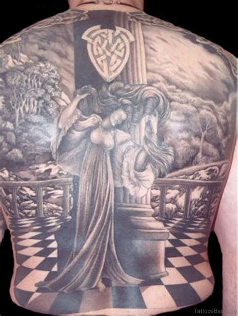religious back tattoos 42 black and grey tattoos for back