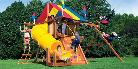 Compact Backyard Playset by Small Yard Play Structures Swing Sets Playground Equipment Backyard Playset Sacramento San