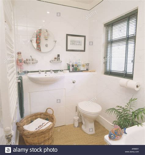 Small White Bathrooms by White Built In Basin In Vanity Unit In Small White
