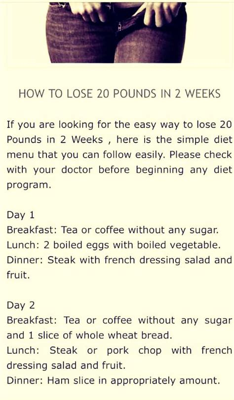 Lose 5lbs In A Week Detox by How To Lose 20 Pounds In 2 Weeks Health Fitness