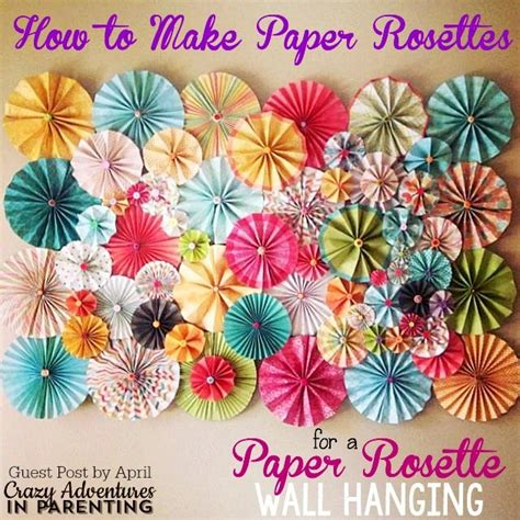 how to hang paper fans on wall how to paper rosettes beautiful paper rosette wall decor