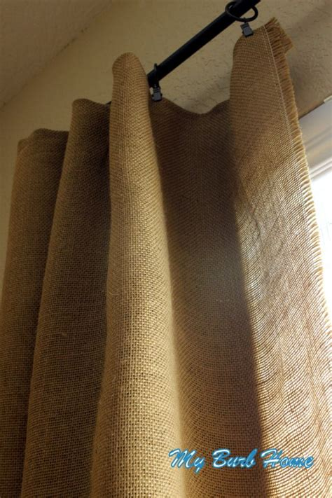 Burlap Curtains Diy Diy Burlap Curtains I Saw It On Pinterest Then I Made It