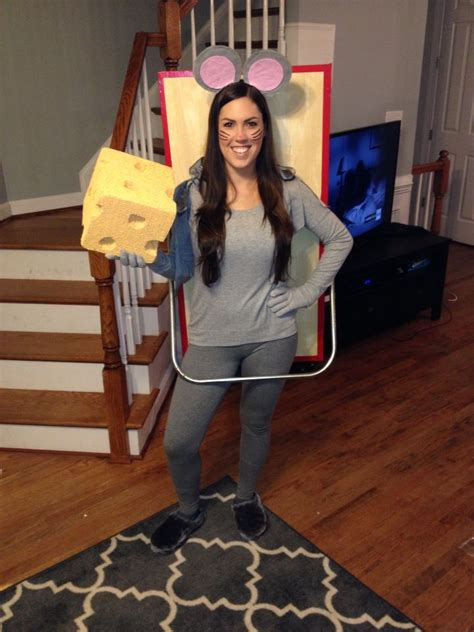 mouse caught   mousetrap diy halloween costume dyi