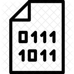 binary file icon   style   svg png