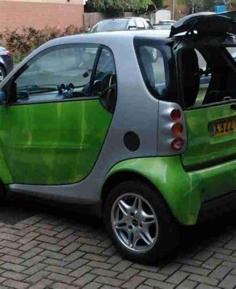 smart car green smart 2000 fortwo car green low mileage 56 000 semi