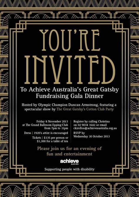 the great gatsby invitation template 2013 achieve gala flyer jpg 559 215 793 pixels las vegas