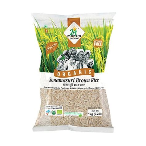 Organic Brown Rice 1 Kg buy 24 mantra organic rice sonamasuri brown 1 kg pouch