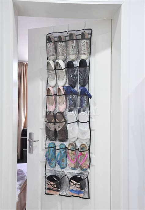 shoe storage door hanger 22 pockets clear door hanging bag shoe rack hanger
