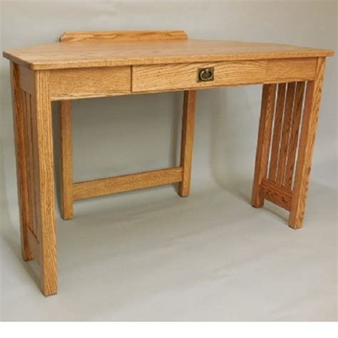 Solid Oak Corner Desk Mission Solid Oak Corner Computer Desk 47 Quot The Oak Furniture Shop