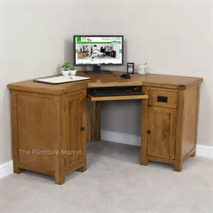 Corner Oak Desk Rustic Oak Corner Desk