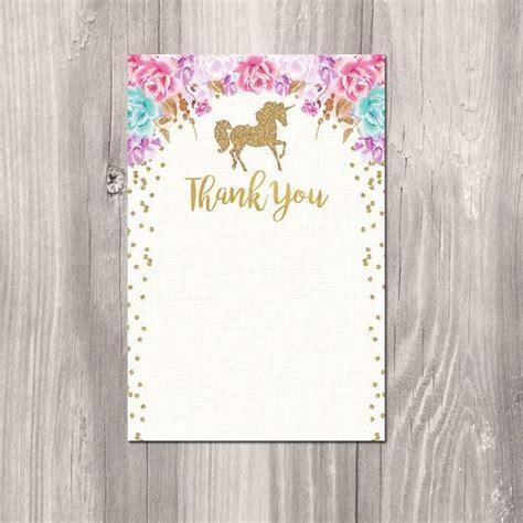 printable unicorn thank you cards unicorn thank you card instant download unicorn thank