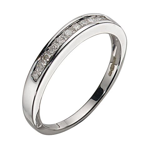 9ct white gold 11 channel set eternity ring