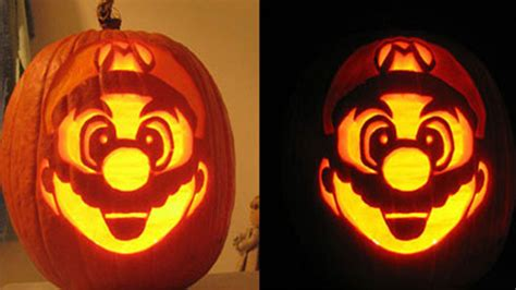 heavenly image of decorative kid super mario bross chuck norris pumpkin carving stencils for kid