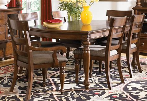 traditional cherry dining room set rich brown cherry finish traditional 8pc dining room set