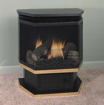 stove gas fireplaces and pedestal on