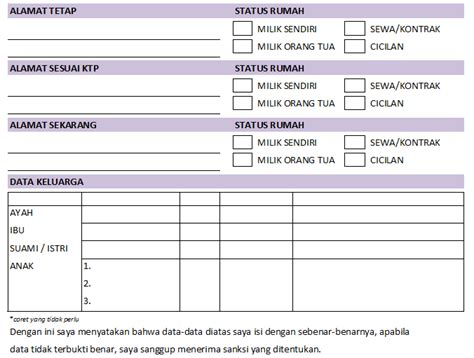 form biodata karyawan lengkap contoh form penerimaan karyawan