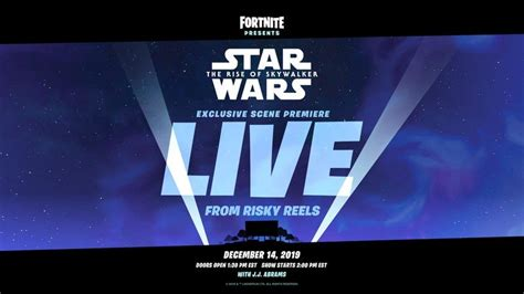 fortnite  show exclusive footage  star wars  rise