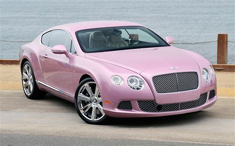 bentley car pink pretty in pink bentley continental gt dolled up for charity