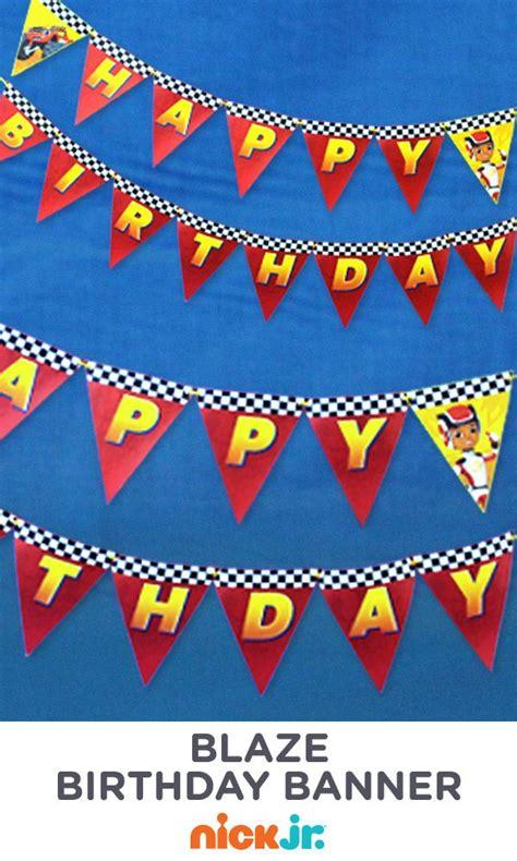 Printable Blaze Birthday Banner   17 best images about blaze party on pinterest nick jr
