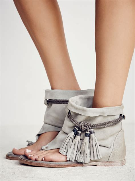 boot sandal free marlo boot sandal in gray lyst