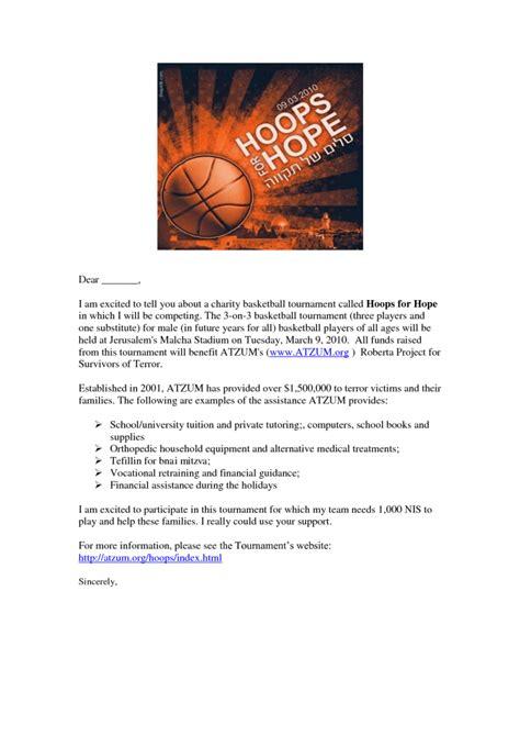 Sponsor Letter Basketball sponsorship cover letter template letter template