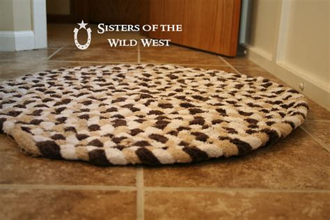 braided bathroom rugs sisters of the wild west braided rug tutorial recycling