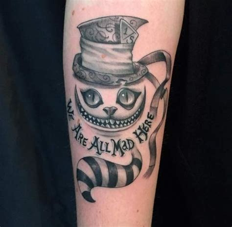 cat tattoo top hat unique cheshire cat tattoo designs ideas for tou