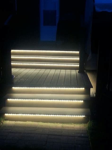 Lights For Stairs by Outdoor Led Lighting Under Stairs To Light Up The Night