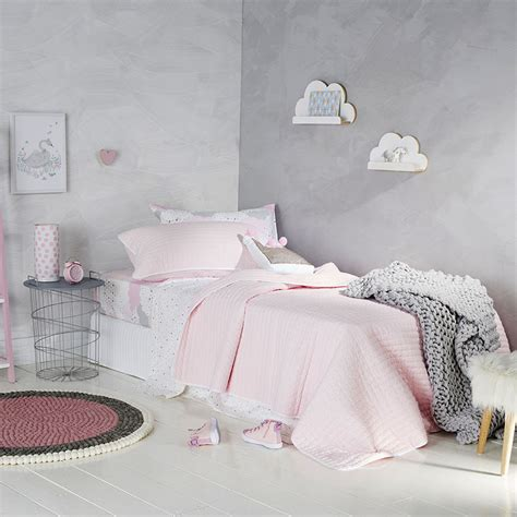 pale pink bedroom adairs kids princeton coverlet pale pink white