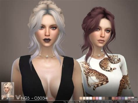 wings sims4 cc spring4sims wings sims os0514 hair for the sims 4