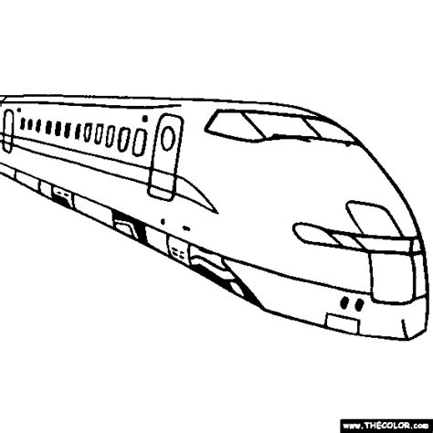 coloring page bullet train online coloring pages starting with the letter h page 4