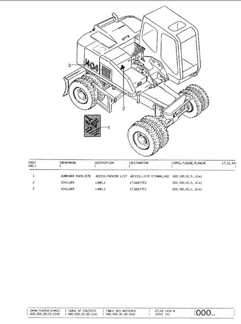 Terex Atlas 1404ZW Excavator Parts Catalog PDF