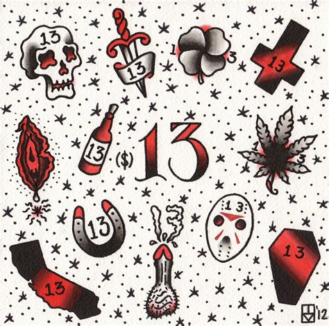 tattoo flash friday the 13th friday the 13th tattoos by apprentice sacred rose tattoo