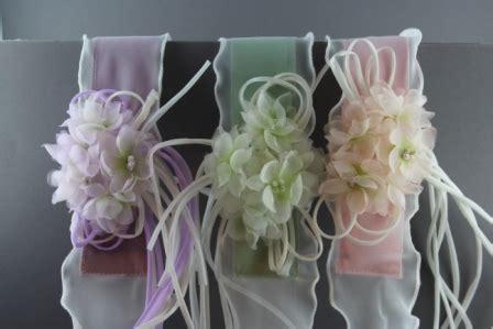 fiori in organza set cerimonia cintura e cerchietto con fiori in organza di